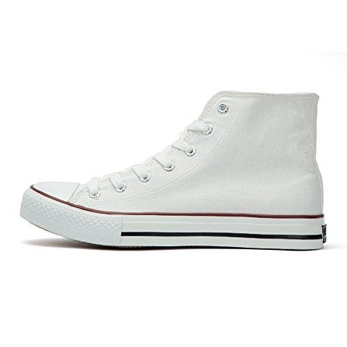 classiche scarpe high bianca giovani femminile XFF top di High top scarpe di indietro maschio amanti di tela tela tirare tela scarpe scarpe ppzwqZ