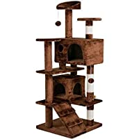 Yaheetech Cat Scratching Post Kitten Tree Tower with Toy in Different Colour 50x50x136 cm(LxWxH)