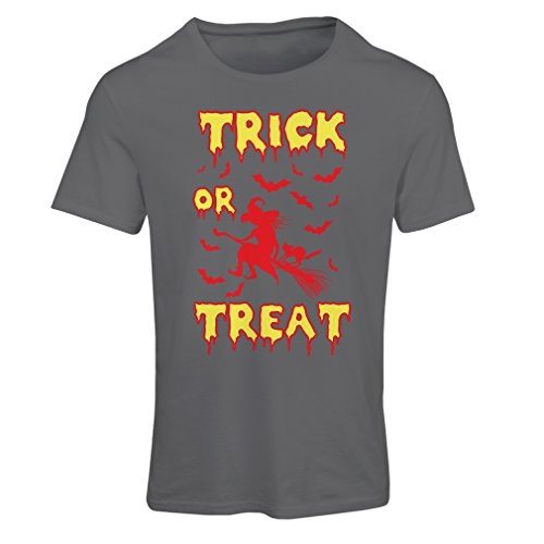 T Shirts For Women Trick or Treat - Halloween Witch - Party Outfites - Scary Costume (XX-Large Graphite Multi Color) - Homemade Cloak Costumes