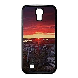 lintao diy Frizzing Sunset At Serra Da Estrela Portugal Watercolor style Cover Samsung Galaxy S4 I9500 Case (Sun & Sky Watercolor style Cover Samsung Galaxy S4 I9500 Case)