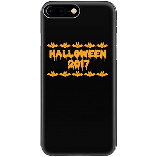 Halloween 2017 Funny Cat Bat - Phone Case Fits iPhone 6 6s 7 8