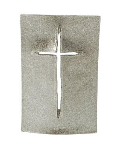 Stehkreuz »Schild« aus Silberbronze