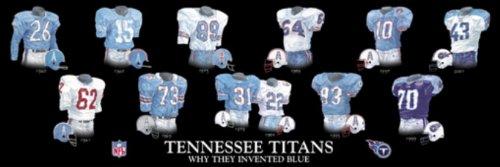 (Framed Evolution History Tennessee Titans Uniforms Print)