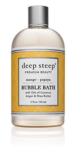 Deep Steep Bubble Bath, Mango Papaya, 17 Ounce