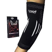 Venom Elbow Brace Compression Sleeve - Elastic Support, Tendonitis Pain, Tennis Elbow, Golfer's Elbow, Arthritis, Bursitis, Basketball, Baseball, Football, Golf, Lifting, Sports, Men, Women