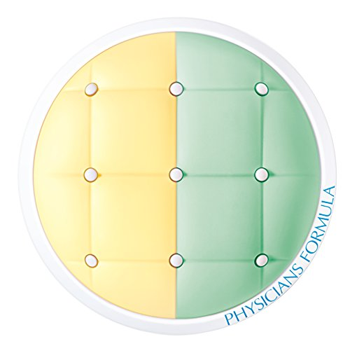 Physicians Formula Mineral Wear Talc-Free SPF 20 Cushion Corrector + Primer Duo, Yellow/Green, 0.33 Ounce