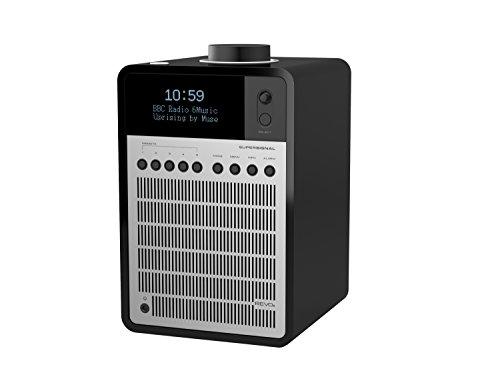 Revo Super Signal Piano Black/Silver Deluxe DAB Table Radio