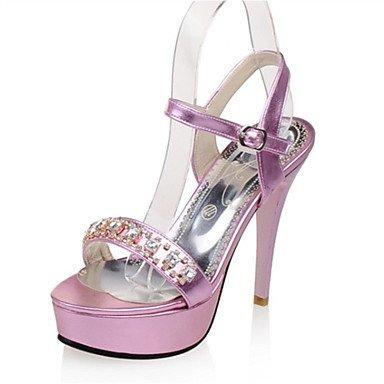 LFNLYX Sandalias mujer Primavera Verano Otoño Comfort Novedad Materiales personalizados polipiel parte & vestido de noche casual tacón cuña beige rosa Sliver