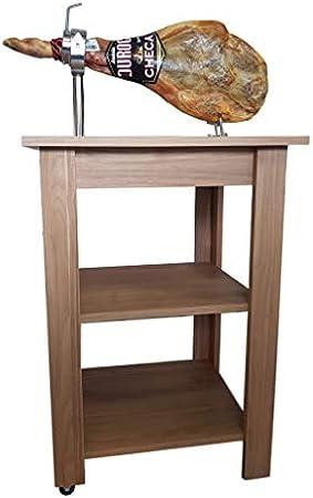 Mesa jamonera Profesional con Cabezal reclinable, giratrio y Extensible (Cubre jamones de Regalo MARRÓN)