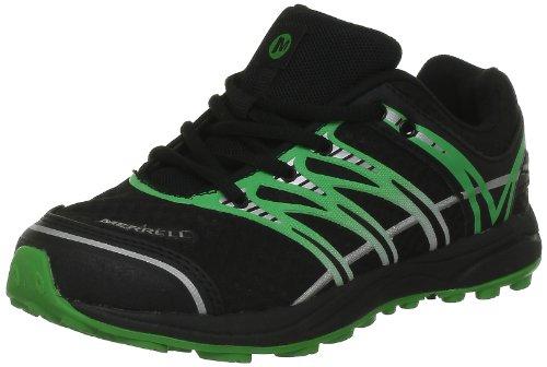 Merrell MIX MASTER JAM KIDS - Zapatillas de correr de material sintético niño multicolor - Mehrfarbig (BLACK/CLASSIC GREEN)
