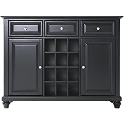 Crosley Furniture Cambridge Wine Buffet / Sideboard - Black