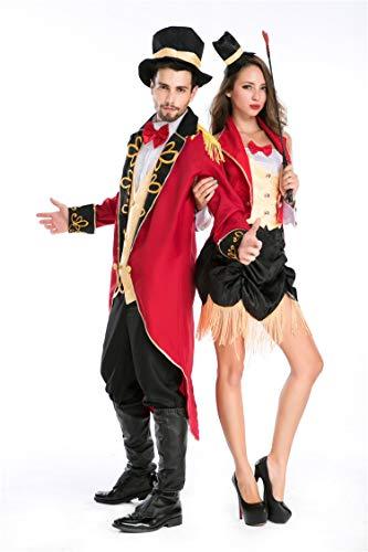QOCAOFIG Magician Trainer Couples Costume,Halloween Cosplay Lolita Adult Magician Uniform -
