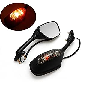 2006-2015 gsxr 600 / 750 Mirrors Motorcycle Integrated Turn Signal Mirror for Suzuki gsxr 600 / 750 06-15, 2005-2008 Suzuki GSXR1000 K5 K6 K7 K8 K9, 2003-2008 Suzuki SV650 SV650S, 03-07 SV1000 SV1000S