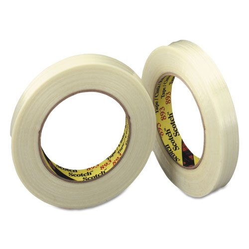8931 Filament Tape - Scotch Products - Scotch - Filament Tape, 1 x 60 yards, 3 Core - Sold As 1 Roll - Polypropylene backed tape is easy to handle and dispense. - 300 lbs. per inch tensile strength. - Provides excellent resistance to nicks, abrasion and moisture. - Good bal