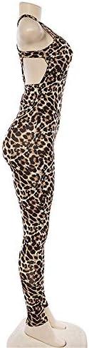 Leichte Trainingshose für Frauen Winter Damen Trend Leopard Sport Fitness Hohle Overall Fitness-Kleidung Eingestelltes Bequem und Strukturiert (Size : M)