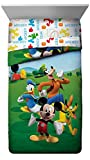 Disney Mickey Mouse Club House Adventure Super Soft Kids Reversible Twin Comforter & Sham Set - Fade Resistant Polyester