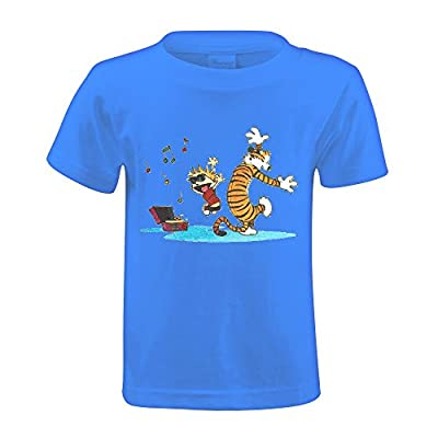 Toypop Calvin And Hobbes Tiger Youth Cotton Crewneck T-shirt Design