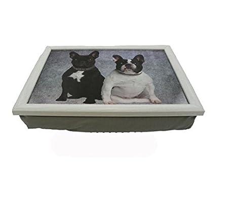 Rodillera Bandeja - Lap Tray - Bulldog francés - divertido Cojín Bandeja - Sofá Bandeja para perros Amigos: Amazon.es: Hogar