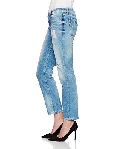 Descructed Bright Jeans Mid Suky Straight Denim Mbbd Hilfiger Mujer Blue Ankle Azul Pz8X6q