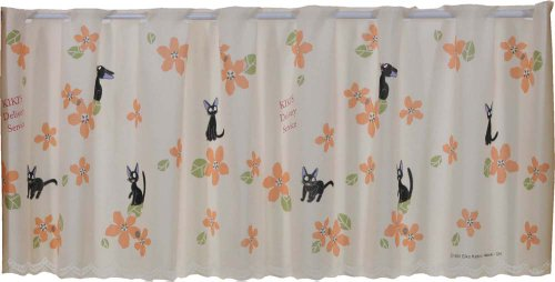 Studio Ghibuli Kikis Delivery Service Cafe Curtain A lot of flowers by Narumi