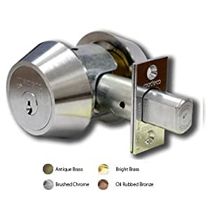 11W0102-PA1-AB Medeco Double Cylinder Medeco High Security Patriot Maxum Deadbolt.(Oil Rubbed Bronze)