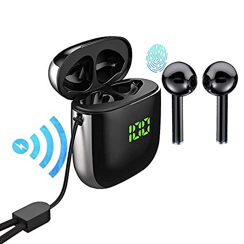 TOP Bluetooth 5.0 Wireless Earbuds with 【24Hrs Wireless Charging Case】 IPX5 Waterproof TWS Stereo Headphones in Ear…