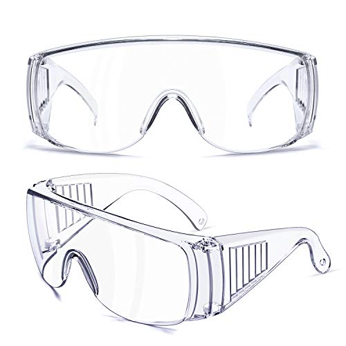 TOREGE Safety Glasses, With Anti Fog & HD Lens Safety Goggles, Over Glasses Design ,Protect Eyes In Outdoor Activities Or Working(1PCS)