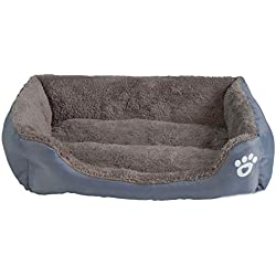 S-3XL 9 Colors Paw Pet Sofa Dog Beds Waterproof Bottom Soft Fleece Warm Cat Bed House Petshop,Gray,XXXL