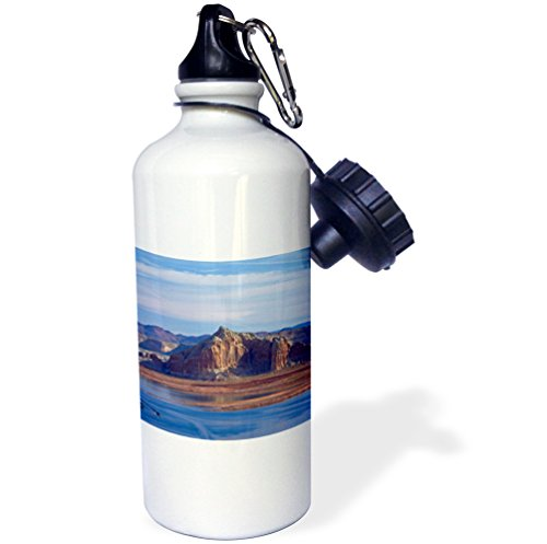 3dRose wb_229674_1''Arizona Boats On Lake Powell At Wahweap Far shoreline is In Utah Sports'' Water Bottle, 21 oz, Natural by 3dRose