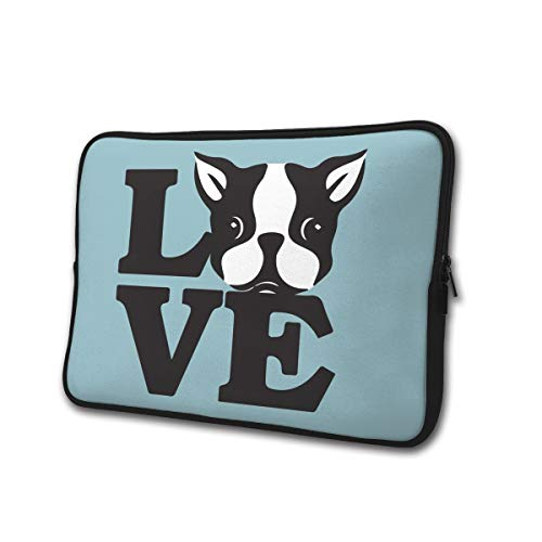 (Love Boston Terriers Business Briefcase Multi-Functional Portable Notebook Computer Sleeve Case Bag/Handbag for 13/15 Inch Laptop)