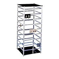 """SSWBasics Large Rotating Jewelry Card Display - 10"""" W x 10"""" L x 25"""" H - Holds 144 2"""" W Earring Cards"""