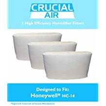 3 Honeywell HC-14 Humidifier Filter, Fits Honeywell HCM3500, HM3600 & HCM-6000, Compare to Part HC-14, Designed & Engineered by Crucial Air