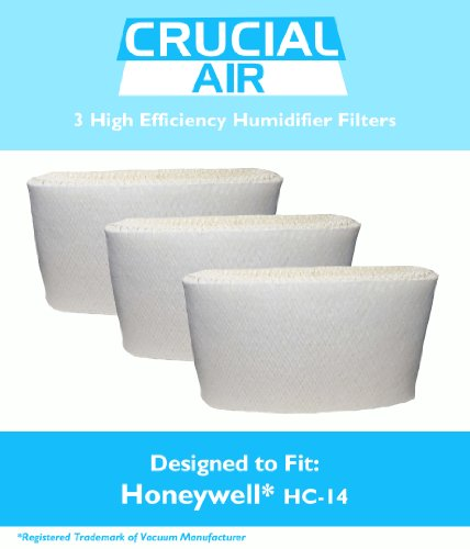Crucial Air 3-Piece Honeywell  HC-14 Humidifier Filter for Honeywell HCM3500 / HM3600 / HCM-6000