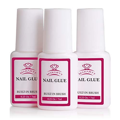 Makartt Super Strong Nail Glue for Acrylic Nail Tips Nail Bond Brush On Nail Glue for Press On Nails Fake Nails Quick…