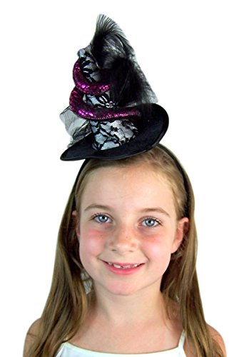 Needzo Voodoo Witch Hat with Feathers and Snake 4 1/2 inches