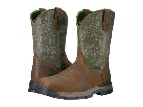 Ariat(アリアト) メンズ 男性用 シューズ 靴 ブーツ 安全靴 ワーカーブーツ Rebar Flex Western H2O Rye Brown/Olive Green [並行輸入品] B07BLHKZHV 8.5 EE Wide