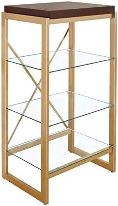 Furniture of America Ruptin Contemporary 4-Shelf Metal Bookcase