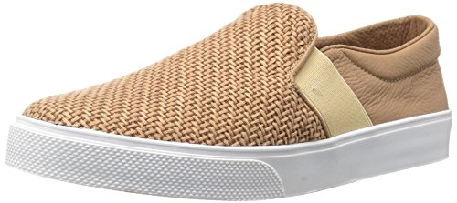 KAANAS Women's Santa Fe Fashion Skate Shoe Slip-On Casual Sneaker, Almond, 5