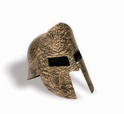 Spartan Costume Helmet (Forum Novelties Greek Roman Spartan Warrior Knight Gold Costume Helmet)