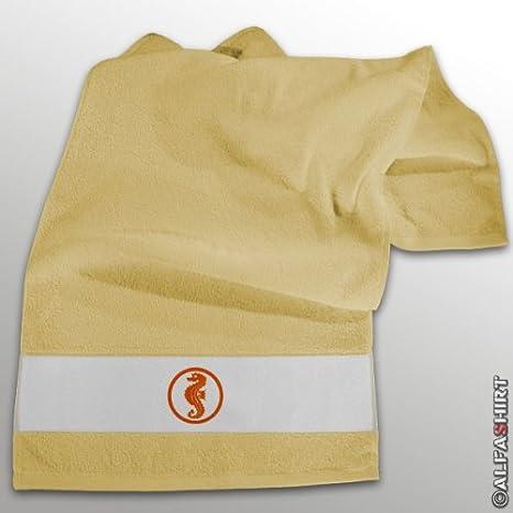 Caballito de mar niños Piscina flotador parche logotipo - toalla amarillo #11272: Amazon.es: Hogar