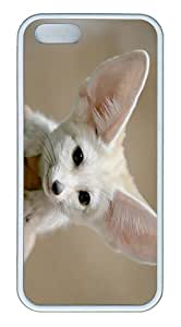 ICORER Fun iPhone 5S/5 Cover Ears Muzzle White Case Cover for Apple iPhone 5 5S TPU White