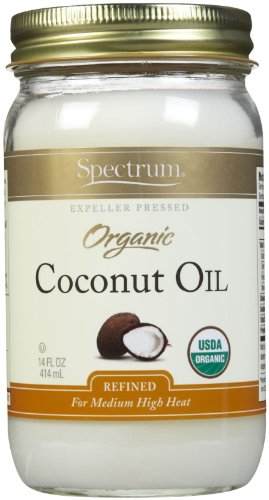 Spectrum Naturals Organic Virgin Coconut Oil, Refined, 14 Ounce