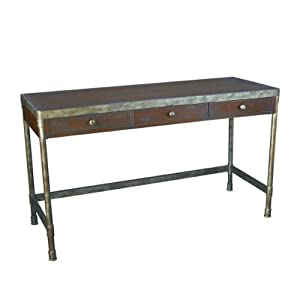 Amazon Com Hammary Structure Computer Desk In Distressed Brown