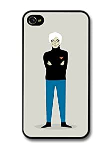 AMAF ? Accessories Andy Warhol with Blue Trousers Black Jumper Minimalist Illustration Pop Art case for iPhone 4 4S