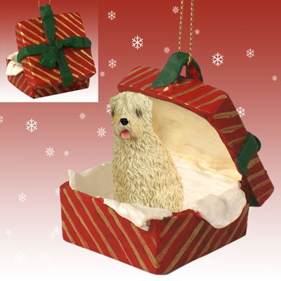 (Conversation Concepts Soft Coated Wheaten Terrier Gift Box Red Ornament)
