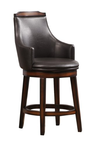 41GbJ6GhncL - Homelegance Bayshore Swivel Counter Height Chairs (Set of 2)