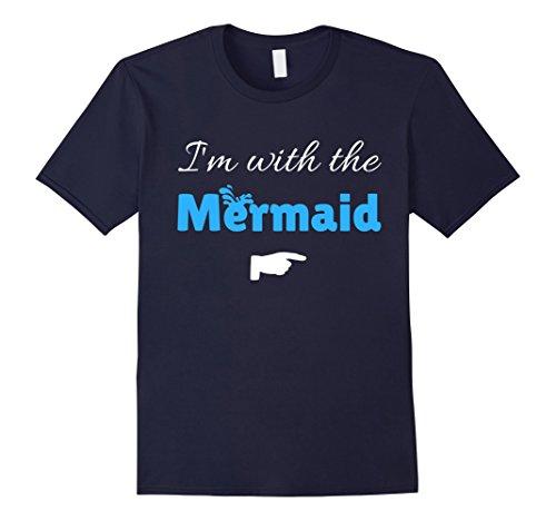 Mens I'm With The Mermaid Halloween Couple Funny T Shirt Medium (Mermaid Couple Costumes)