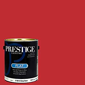 prestige paints exterior paint and primer in one 1 gallon flat. Black Bedroom Furniture Sets. Home Design Ideas