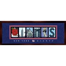 Prints Charming Letter Art Framed Print, New York Giants-Giants, Bold Color Border