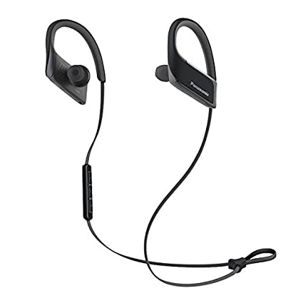 48771862e3f Amazon.com: Panasonic WINGS Wireless Bluetooth In Ear Earbuds Sport  Headphones with Mic + Controller RP-BTS30-K (Jet Black), IPX4 Water  Resistant: Home ...